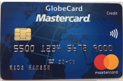 GlobeCard Blue Mastercard, enkelt og godt til det meste